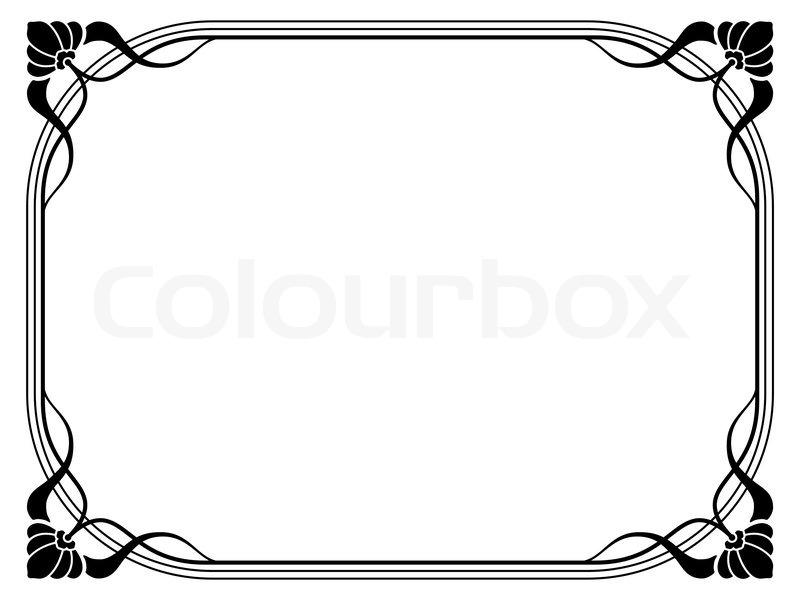 Jugendstil- ornamentalen dekorativen Rahmen | Vektorgrafik | Colourbox