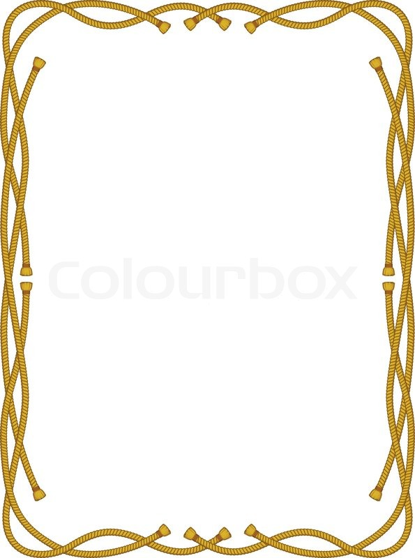 Frame from rope isolated on white | Stock Vector | Colourbox