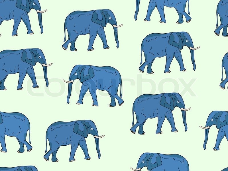 Displaying (20) Gallery Images For Elephant Pattern Wallpaper...