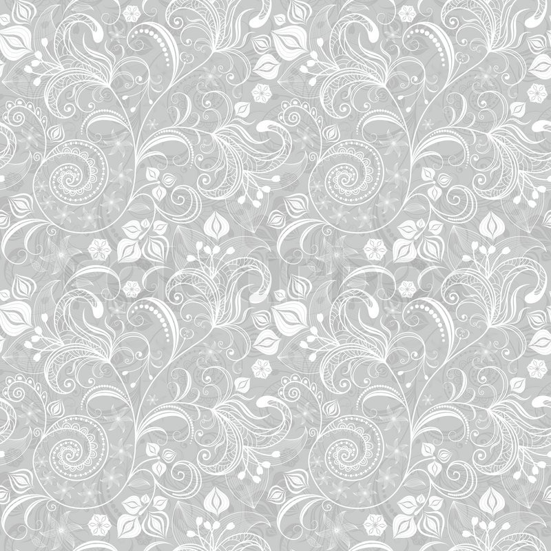 seamless gray floral pattern stock vector colourbox