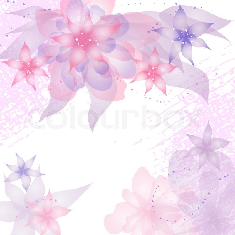 vector of card or invitation with abstract floral background greeting