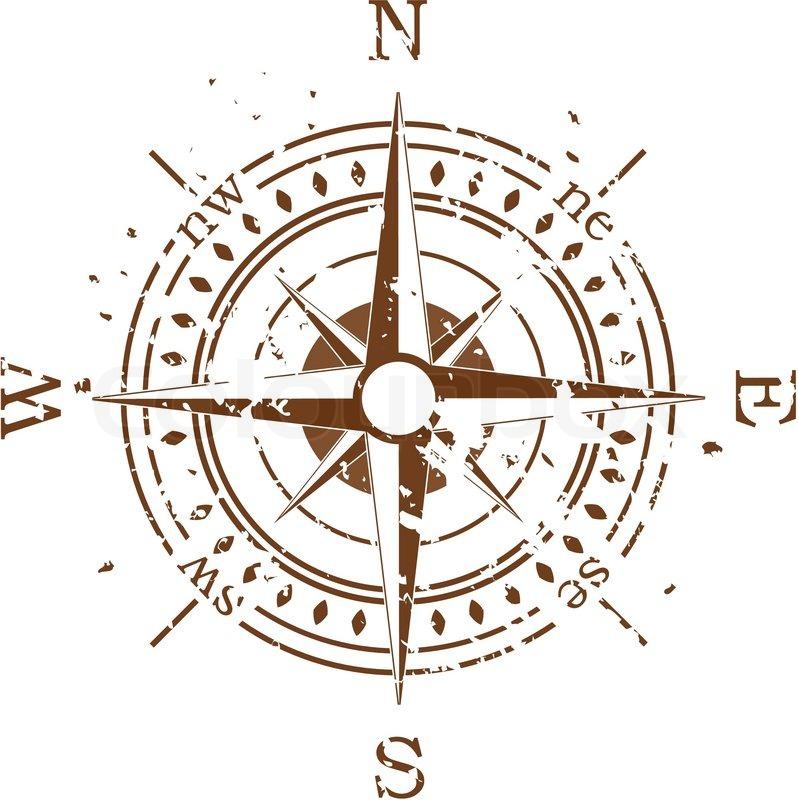 grunge vector compass stock vector colourbox