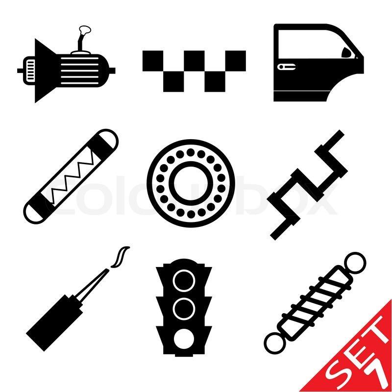 car part icon set 7