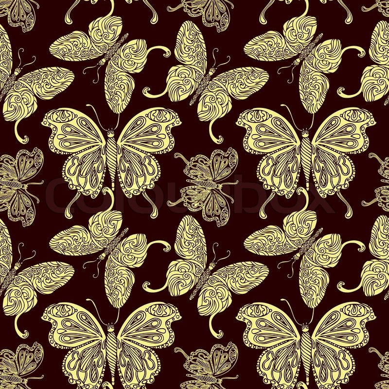 Vintage Wallpaper on Creative Vector Wallpaper  Fashion Seamless Pattern  Fabric And Retro