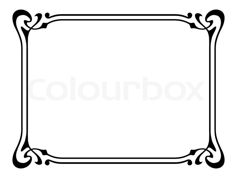 Jugendstil- ornamentalen dekorativen Rahmen   Vektorgrafik   Colourbox