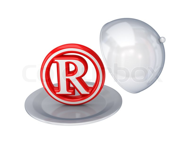 Red Copyright Symbol On A Dish Stock Photo Colourbox