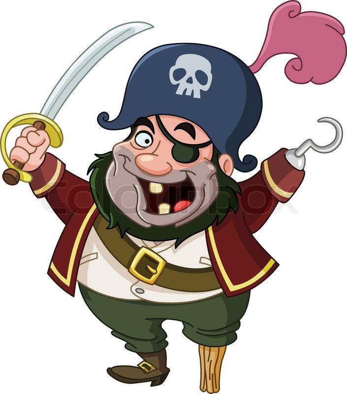 cartoon pirate stock vector colourbox rh colourbox com pirate clipart for kids free pirate clip art free download
