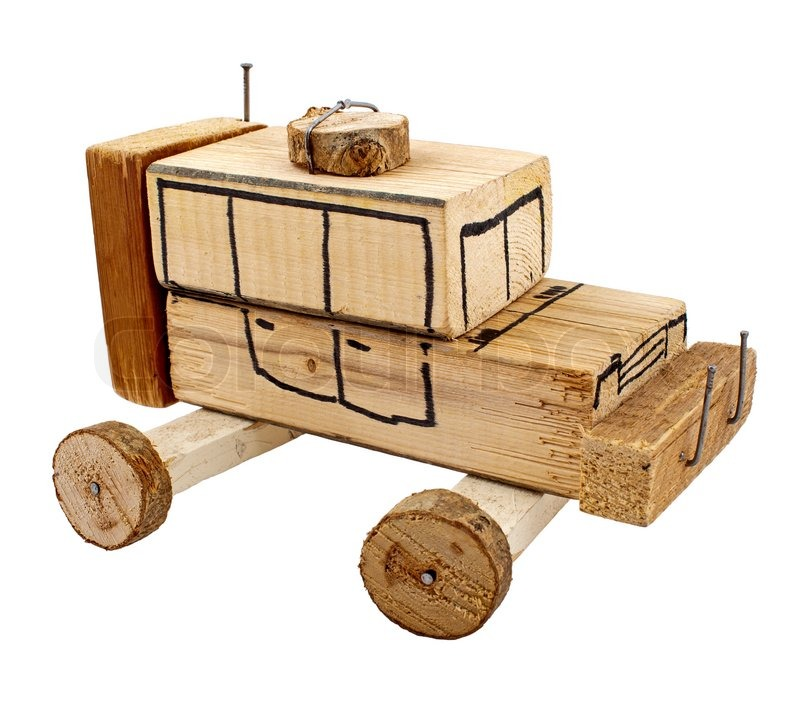 Handmade wooden toy car | Stock Photo | Colourbox