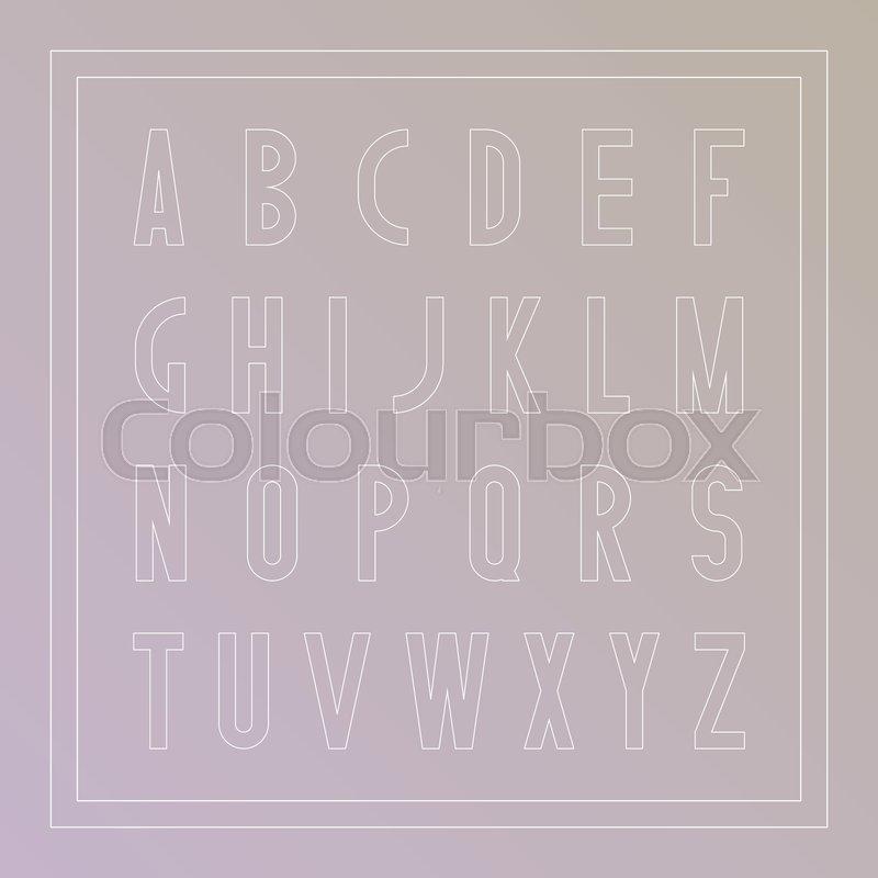 Vector stylish font  Modern english     | Stock vector | Colourbox