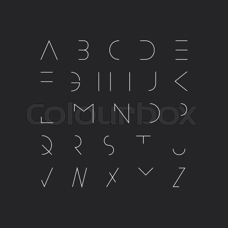 Vector minimal font - modern     | Stock vector | Colourbox