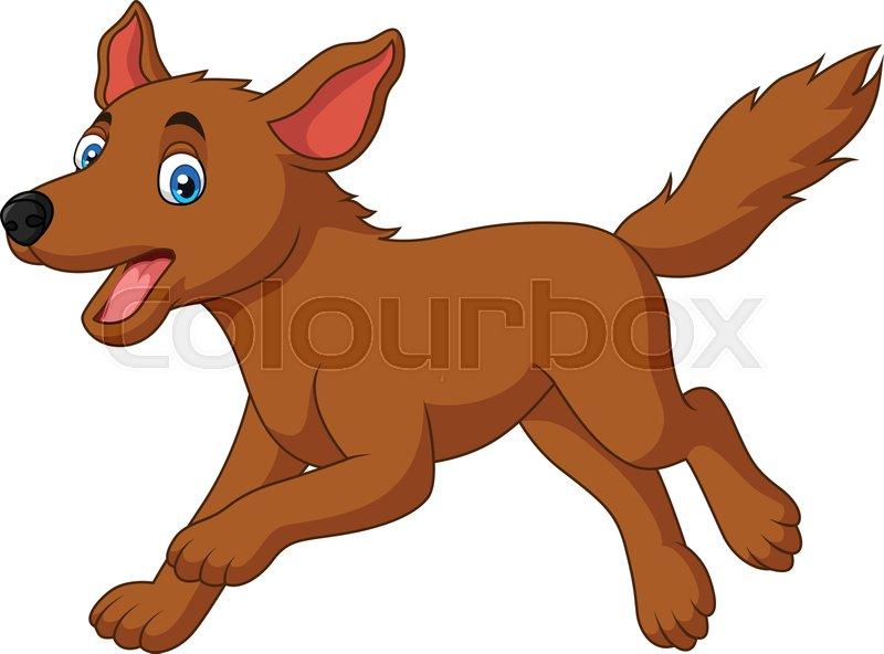 Illustration Of Cartoon Happy Dog Stock Vector Colourbox
