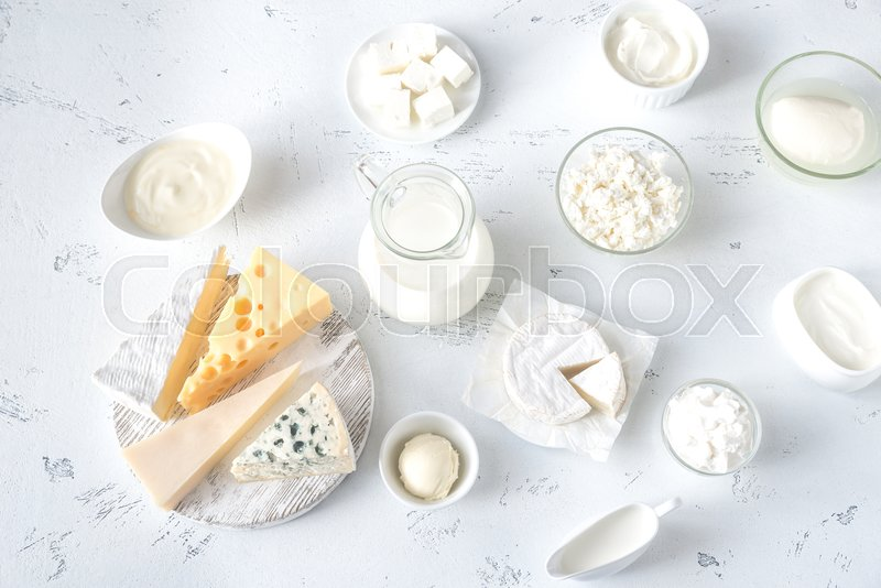 Assortment of dairy products, stock photo