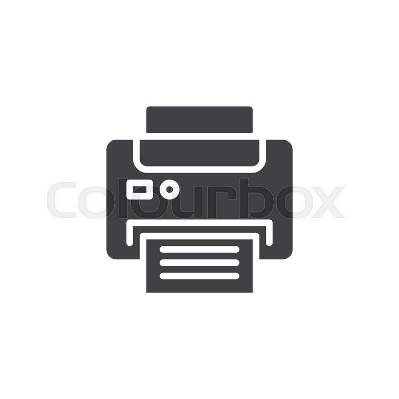 office printer vector icon filled stock vector colourbox colourbox