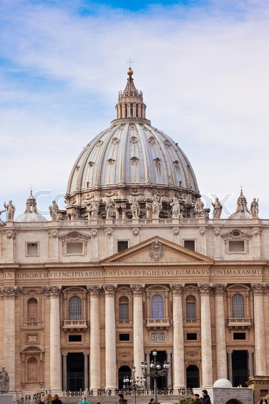 St Peter's Basilica In Vatican City In Rome, Italy