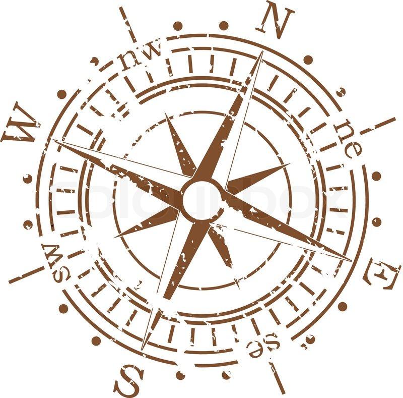 Grunge vector compass | Vector | Colourbox: colourbox.com/vector/grunge-vector-compass-vector-3614286