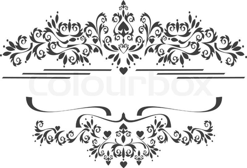 black ornamental border frame on a white background graphic stock photo colourbox