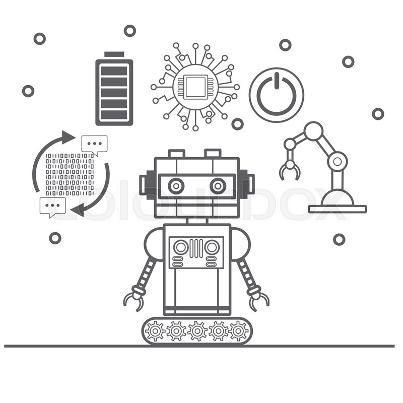 Artificial Intelligence Icons Icon