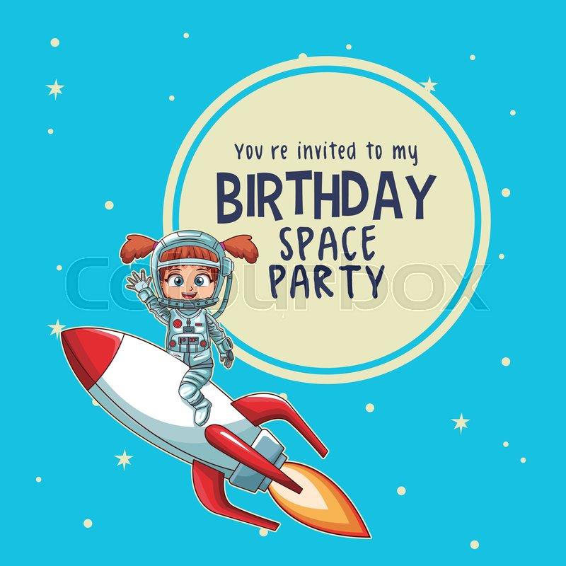 Happy Birthday Invitation Card Stock Vector Colourbox