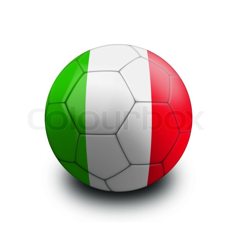 Sports soccer ball flag italy | Stock Photo