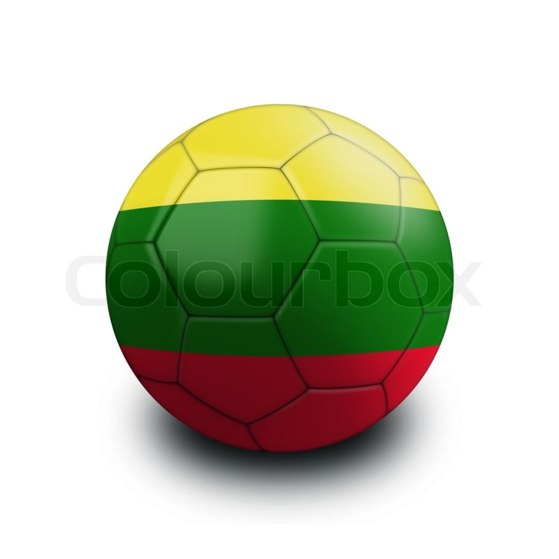 Sports soccer ball flag lithuania | Stock Photo