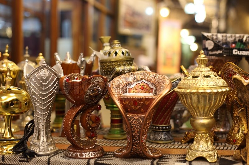 Stock image of 'Traditional Arabic incense burner in Doha, Qatar'