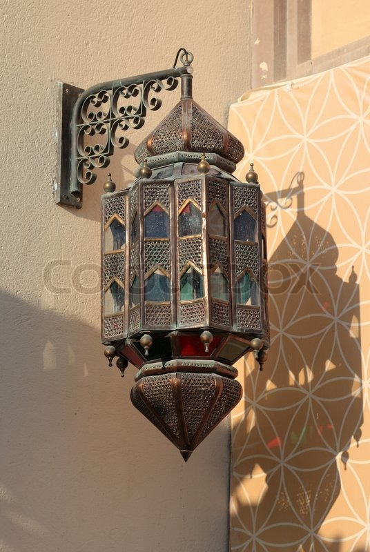 Traditional arabic lantern in doha qatar stock photo colourbox