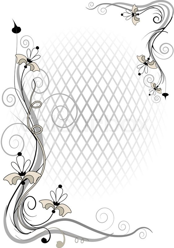 corner twig and flower of by volume grid stock photo colourbox