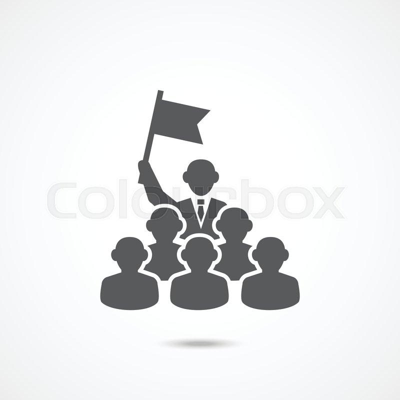 Leadership Icon On White Background Stock Vector Colourbox