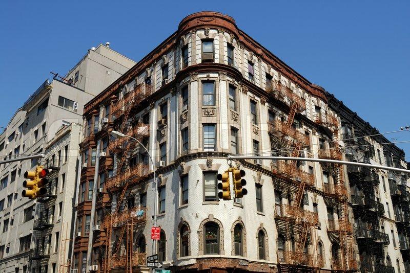 Old Art Deco Stil Geb Ude In New York City Stockfoto Colourbox