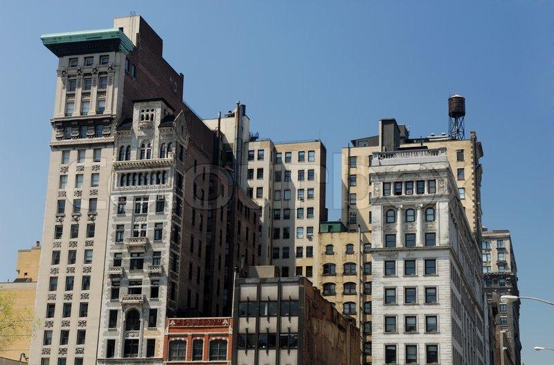 Alte Geb Ude In New York City Mit Art Deco Fassade Stock Foto