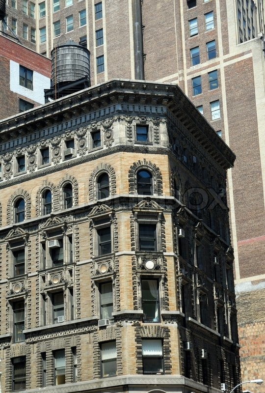 Part of an Art Deco style building in New York City | Stock Photo ...