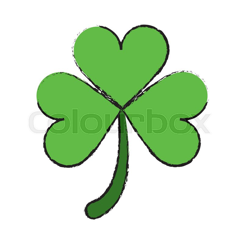 Cartoon Clover Leafs Saint Patrick Day Stock Vector Colourbox