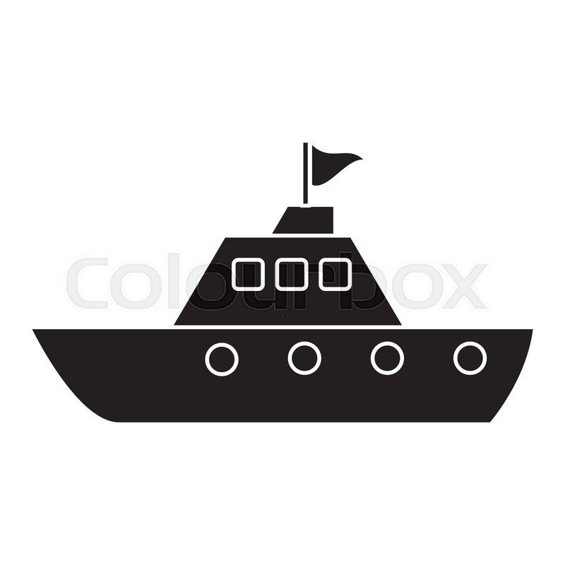 Silhouette yacht luxury travel     | Stock vector | Colourbox