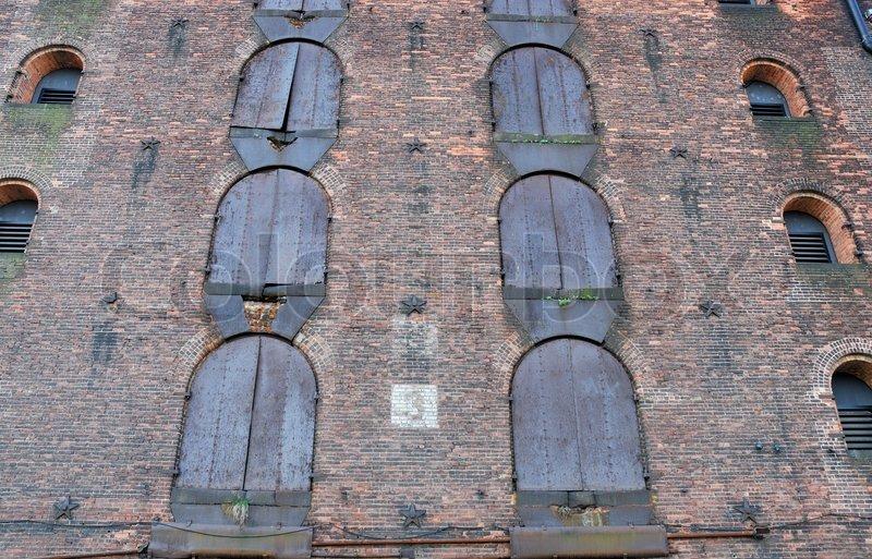 An Old Brick Warehouse Dockside New York Stock Photo