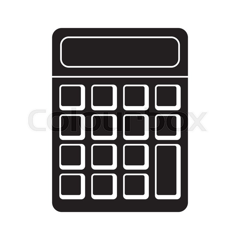 Calculator math school pictogram     | Stock vector | Colourbox