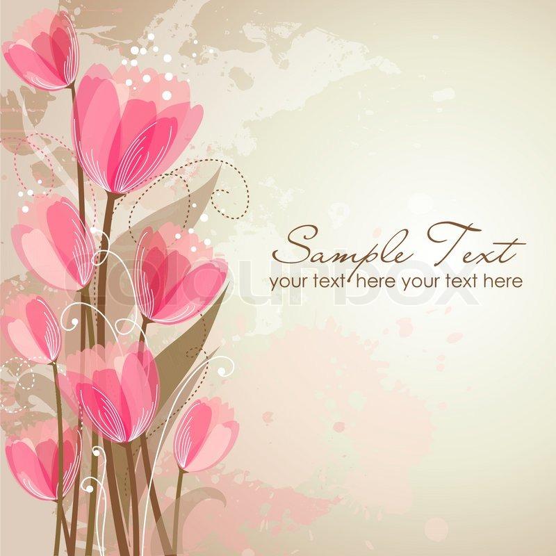 Romantic Flower Background Stock Vector Colourbox