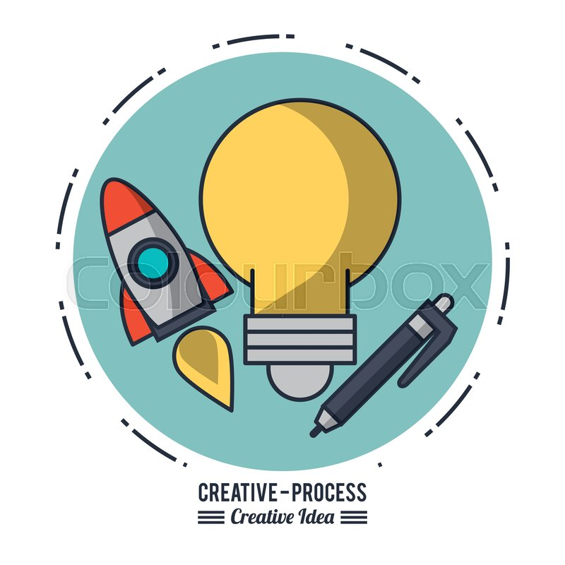 Creative process infographic icon ... | Stock vector | Colourbox