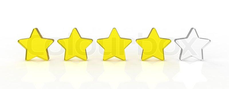 Five Transparent And Shiny Glass Stars Stock Image Colourbox