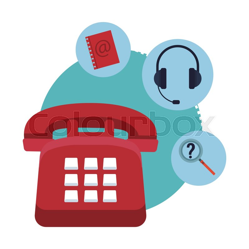 Telephone Assistance Icon With Stock Vector Colourbox