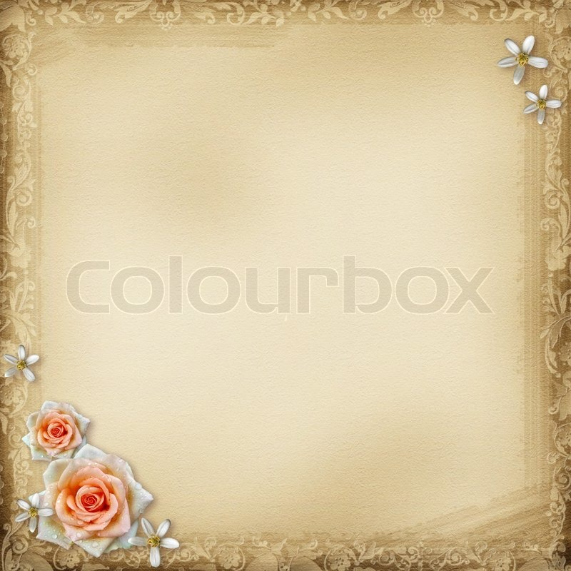 Photo Page: Ancient Photo Album Page Background Withoval Frame And