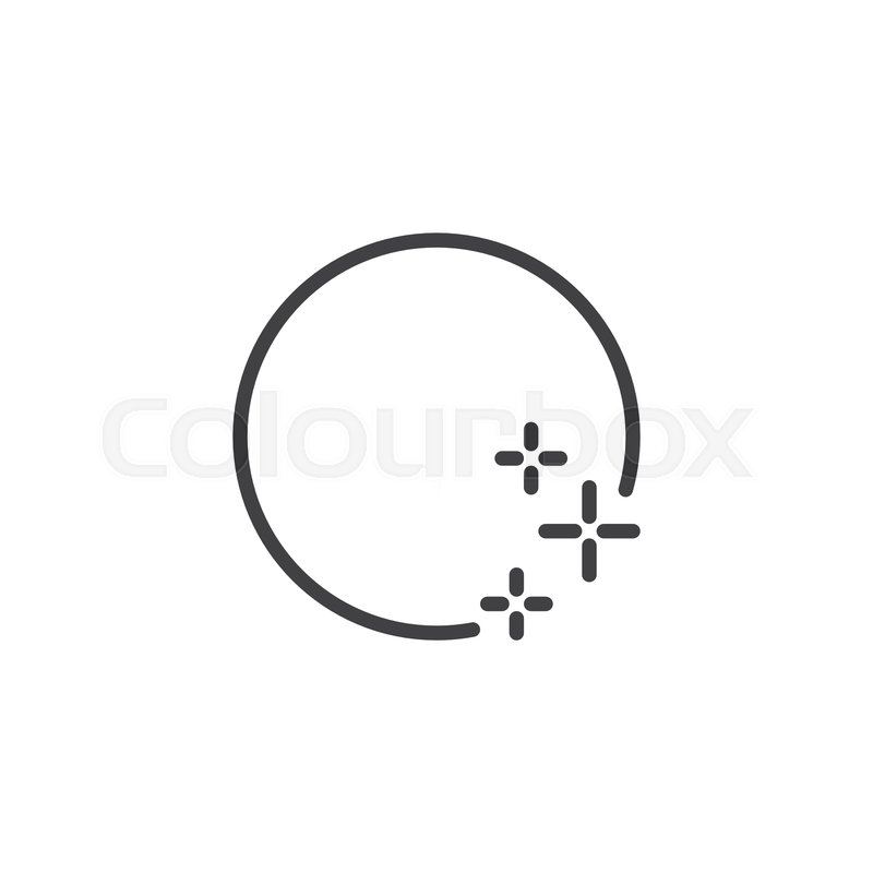 full moon and stars outline icon stock vector colourbox full moon and stars outline icon