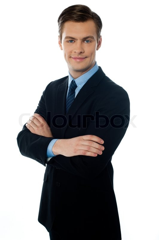 Portrait Of Smiling Young Executive Stock Photo Colourbox
