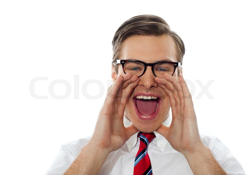 Closeup shot of a young man shouting loud stock photo colourbox - Kleedkamer in mansard kamer ...