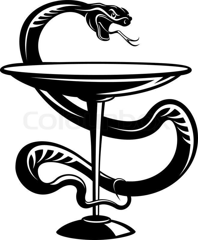 Medicine Snake Symbol Stock Vector Colourbox