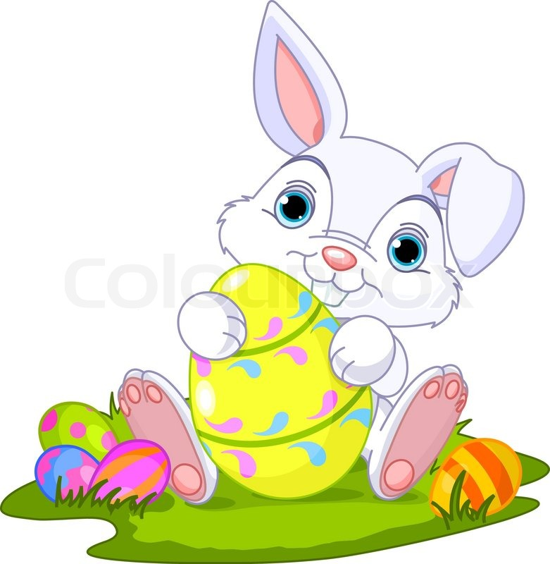 Easter Bunny With Easter Egg Stock Vector Colourbox