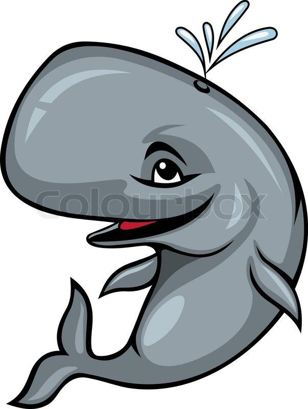 Smiling sperm whale   Stock Vector   Colourbox