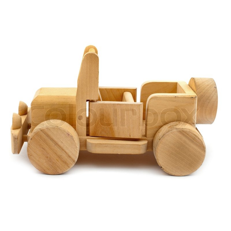 Wooden toy car stock photo colourbox