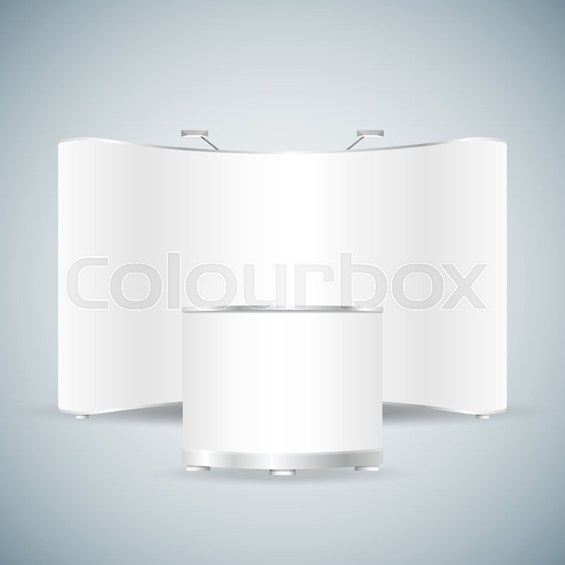 Exhibition Stall Icon : Exhibition stand d design mockup download free vector art