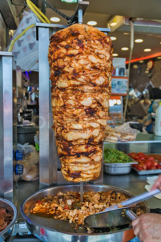 Istanbul Street Food Doner Kebab Made Stock Image Colourbox