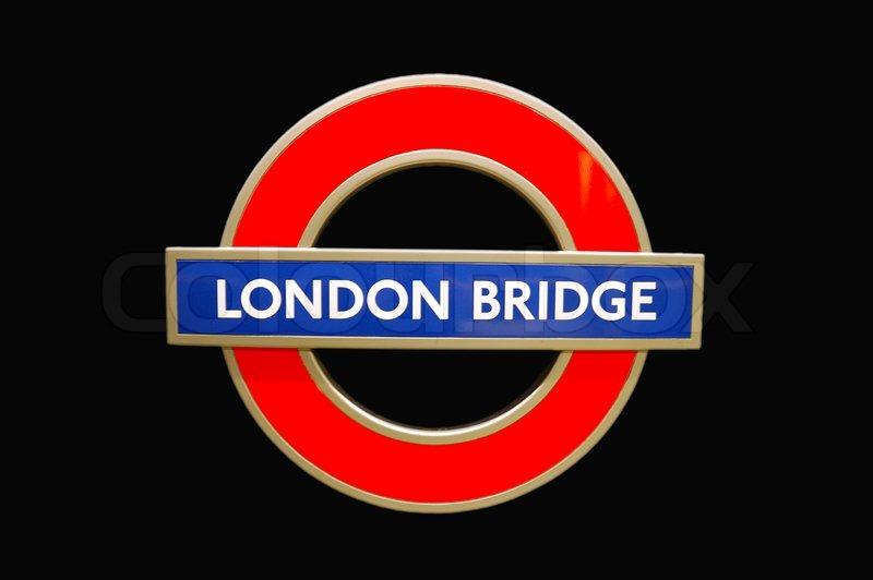 London Bridge Underground Station Sign Stock Photo Colourbox